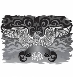 banner with an eagle vector image