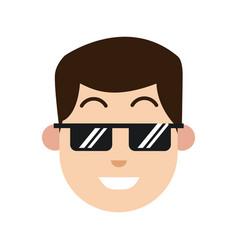 Character man sunglasses smiling image vector