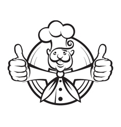 chef design vector image vector image