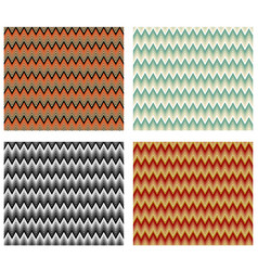 Chevron patterns tile multicolored design element vector