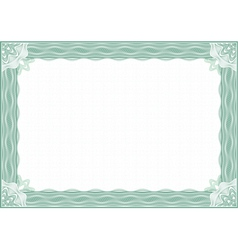 classic guilloche border for diploma or certificat vector image