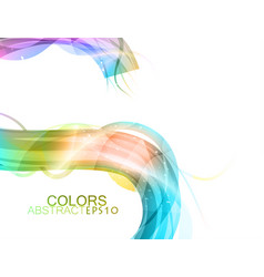 Colors curve scene vector