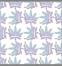 cute weed marijuana seamless pattern background vector image