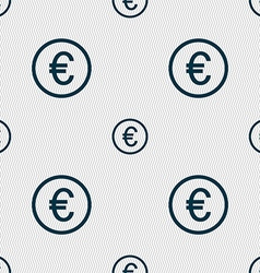 Euro icon sign Seamless abstract background with vector image vector image