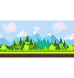 Flat style game background vector image vector image