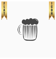 Glass of beer with foam vector image vector image