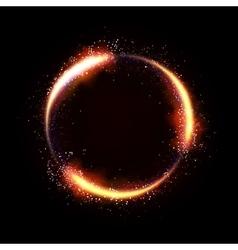 Glittering star dust circle vector