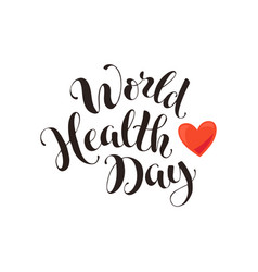 health day wording vector image vector image