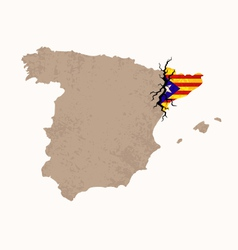 Map of Catalan Independence vector image