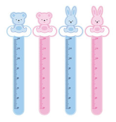 meter wall rabbits and bears vector image vector image