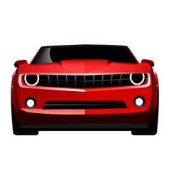Muscle car front vector