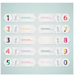 number options template vector image