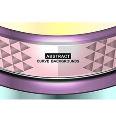 Pastel curve background vector