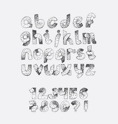 Set dotted alphabet from a to z and numbers vector