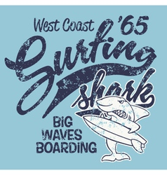 Surfing Shark vector image