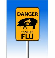swine flu sign vector image