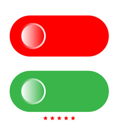 toggle switch icon flat style vector image vector image
