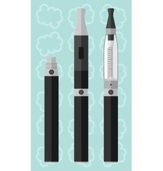 Vaping electronic cigarette with clearomizer vector