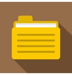 Yellow file folder icon flat style vector image vector image