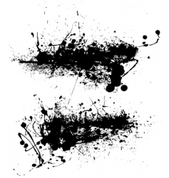 scraggy grunge vector image