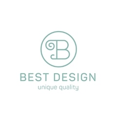 Design logo letter b in the flat steel quality and vector image