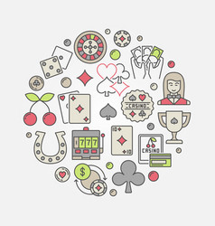 Casino circular concept symbol vector