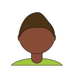 Young man faceless avatar vector