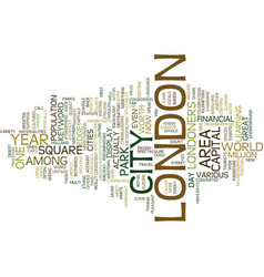 London text background word cloud concept vector