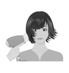 Hairstyle single icon in monochrome style vector