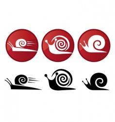 snail vector silhouette icon set vector image