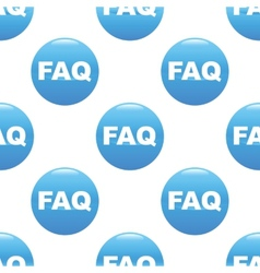 Faq sign pattern vector