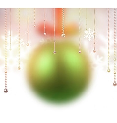 Defocused green christmas ball vector