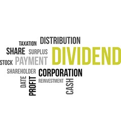 word cloud dividend vector image
