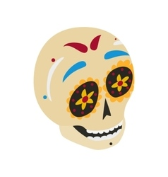 Mexican skull icon isometric 3d style vector