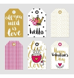 Tags set of love theme vector