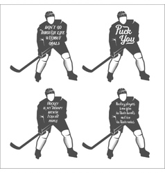 Set ofhockey motivational quotes vector