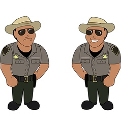 A sheriff vector image vector image