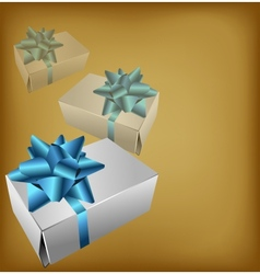 Background with realistic gift box vector image vector image