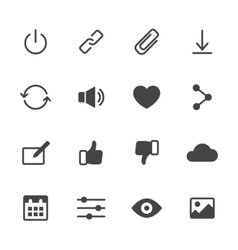 Basic Interface Icons vector image vector image