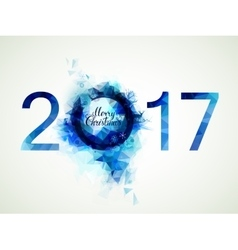 Blue composition Merry Christmas and New Year vector image