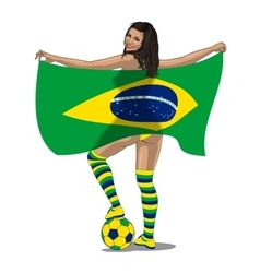 Brasil Football Fan vector image vector image