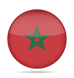 Button with flag of morocco vector