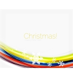 Christmas and new year business wave template vector