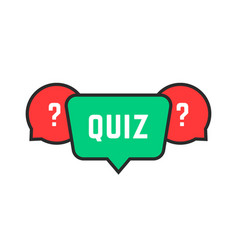 Colored simple quiz icon vector