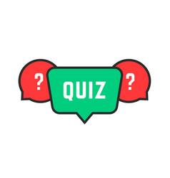 colored simple quiz icon vector image vector image