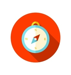 Compass flat icon with long shadow vector