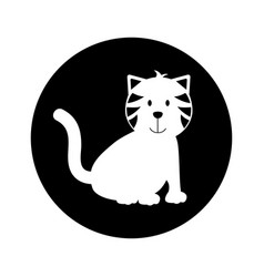 Cute cat mascot icon vector