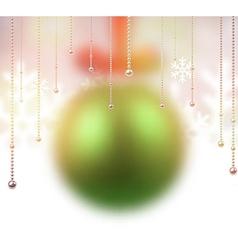 Defocused green christmas ball vector