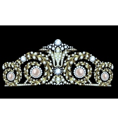 Diamond tiara vector image vector image