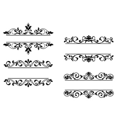 Floral headers and borders vector image